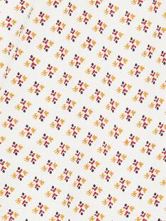 Salopette vanille et orange à imprimé ikat en coton fille CORALIE 21 / 21VU1912N05114