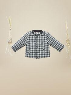 Veste en lainage à carreaux gris anthracite garçon   VEBEVEST 19 / 19IU2022N17944