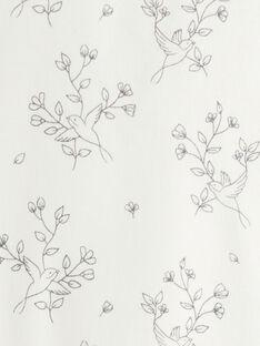 Body fille imprimé oiseaux et fleurs en interlock rose tendre  BALI 20 / 20IU1952N67307