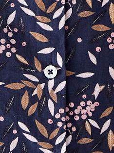 Combinaison longue fille bleu en imprimé fleuri  BIANKA 20 / 20IU19C1N26C205