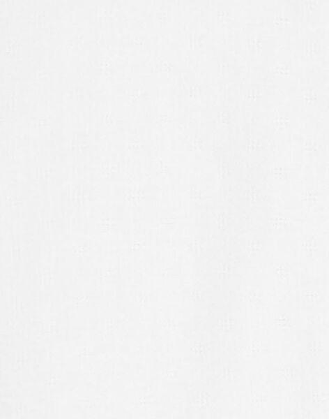 Housse de couette en jacquard fantaisie vanille mixte 100x140 cm  ADELINO-EL / PTXQ6411N57114
