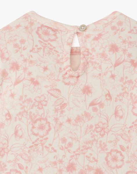Body fille en coton pima imprimé floral vanille  ASELMA 20 / 20VU1914N67D329