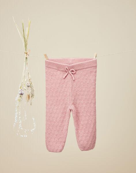 Legging en tricot bois de rose fille  VENISSIA 19 / 19IU1931N3A312