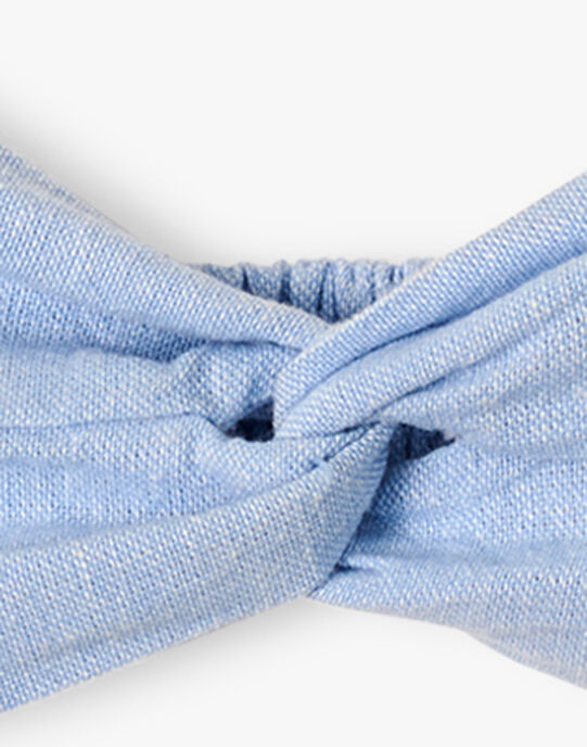 Bandeau fille en chambray bleu AMELINE 20 / 20VU6011N85721