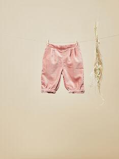 Pantalon en velours palatine rose fille  VOLIA 19 / 19IV2211N03312