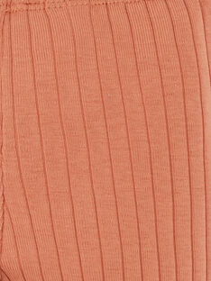 Leggings fille pécan en côtes coton pima   DALMA 21 / 21PV2211N3AI821