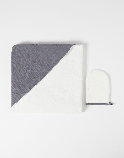 Cape de bain gris foncé gaze de coton mixte WILLY-EL / PTXQ6414N73941