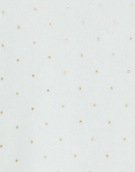 Grenouillère à col en velours fille vanille imprimé pois  DICOEUR 21 / 21PV7112N31114