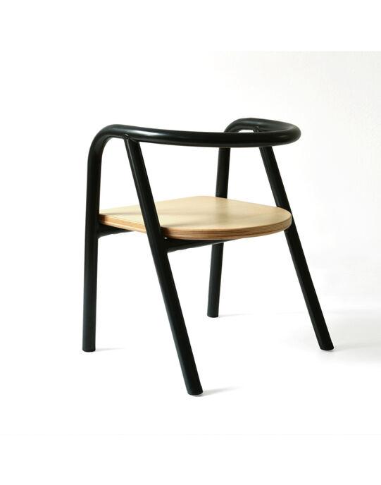 Chaise en bois et métal noir CHAISE MET NOIR / 18PCMB004PMO090
