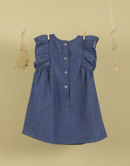 Robe bleu jean brodée fille TIMIDETTE 19 / 19VU1923N18704