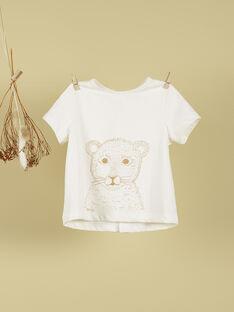 T-shirt naissance beige lionceau garçon TUC 19 / 19VV2371N0E114