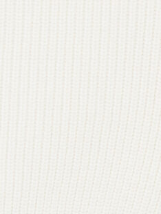 Gilet garçon vanille en côte perlé coton cachemire CYRUS 21 / 21VU2013N12A010