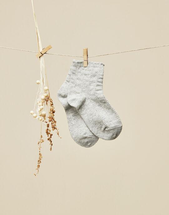 Chaussettes gris chiné bébé fille  VONYE 19 / 19IU6012N47943