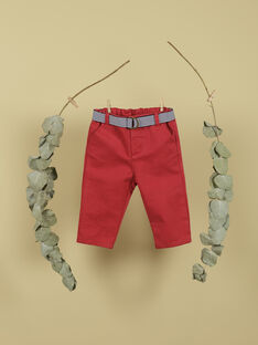 Pantalon rouge avec ceinture garçon TOPINAMBOUR 19 / 19VU2012N03F505