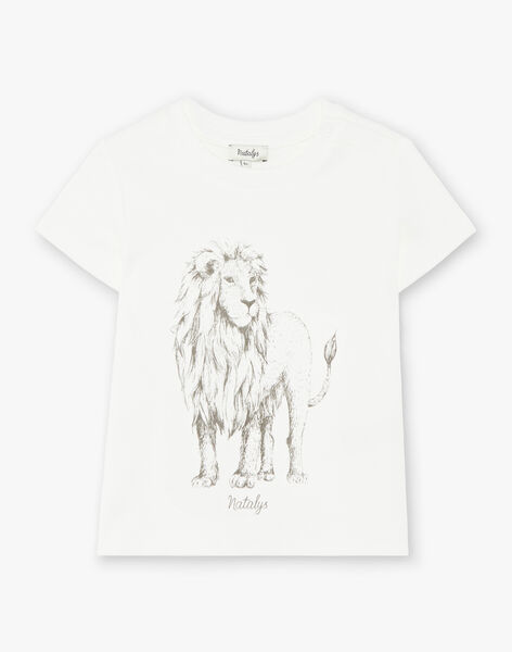 Tee-shirt enfant garçon manches courtes vanille coton pima CASSIUS 468 21 / 21V129211N0E114