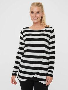 Tee Shirt Manches Longues Noir MLAYA PULL RAYE / 19IW2663N0F090