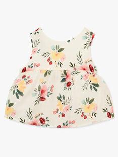 Blouse fille vanille en imprimé fleurs   AIKO 20 / 20VU1921N09114