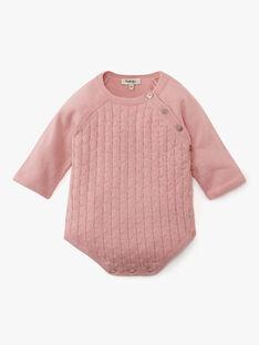 Combinaison fille en coton cachemire rose  ARIANE 20 / 20PV2211N26D312
