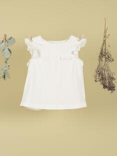 T-shirt sans manches à volants vanille fille TONIA 19 / 19VU1911N0E114
