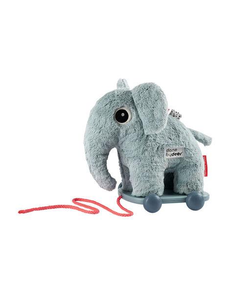 Jouet à tirer éléphant Elphee Done By Deer bleu 40x13x25 cm dès 1 an JOU TIRER ELPHE / 19PJJO024AJV999