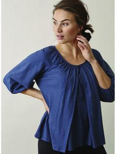 Blouse de grossesse & allaitement coton bio Air Boob bleue BOAIR BLOUSE BL / 20VW2641N09C210