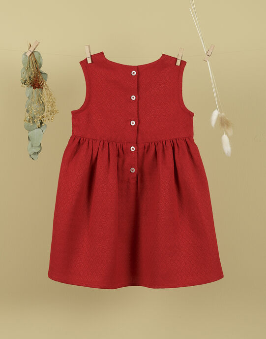 Robe sans manches rouge coquelicot fille TOLIVIA 19 / 19VU1913N18F505