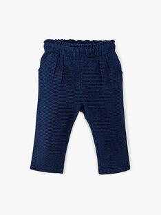Pantalon fille coupe carotte en denim fantaisie bleu matière espagnol ANADORA 20 / 20VU1913N03P270