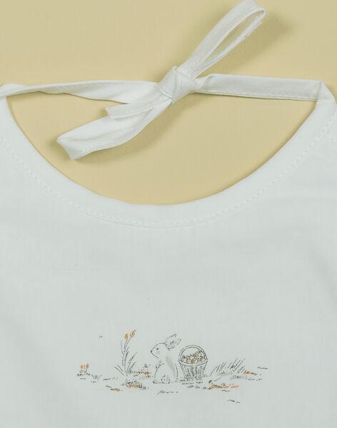 Bavoir motif champêtre vanille mixte TABALU 19 / 19PV5922N72114