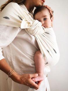 Porte-bébé coton bio Sling Simple Palm Sensation June 22 écru dès la naissance PBB PALM SENSAT / 19PBDP008PBB001