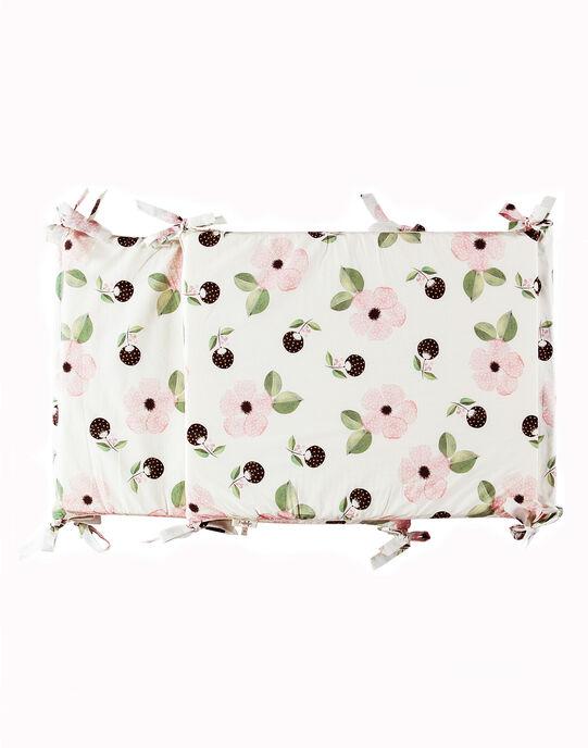 Tour de lit vanille imprimé fleurs fille  ADELE-EL / PTXQ6211N74114