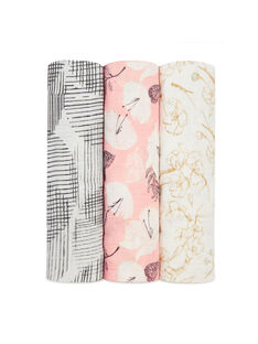 Pack de 3 maxi-langes Pretty Petals 120 x 120 cm 3 LANGES PRETTY / 19PSSO002AHY999