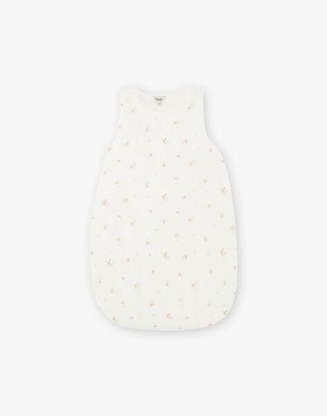 Turbulette fille en double gaze de coton vanille imprimé petites fleurs DIBU 21 / 21PV5915N66114