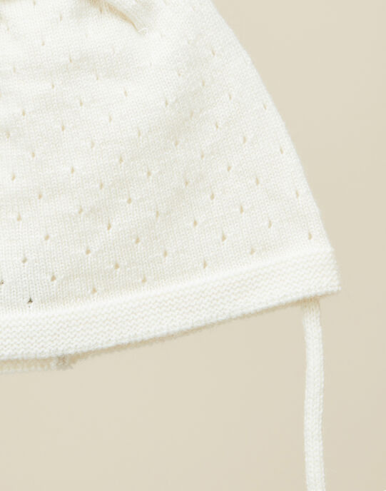 Bonnet en tricot vanille fille   VEBONINA 19 / 19IU6033N49114