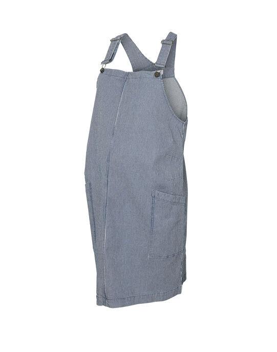Robe salopette de grossesse à rayures bleues MLDARIA DRESS / 19VW268DN18020