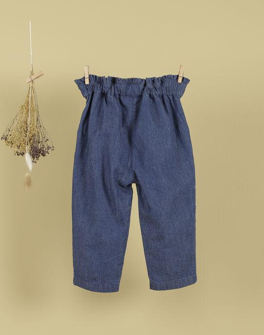 Pantalon bleu jean fille TIMBALETTE 19 / 19VU1922N03704