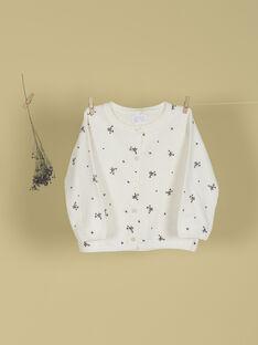 Cardigan vanille imprimés oiseaux fille TOPHELIE 19 / 19VU1912N11114
