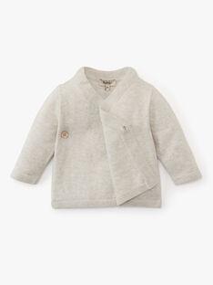 Brassière croisée mixte gris chiné en laine mérinos AMAEL 20 / 20PV2413N2A803