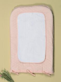 Housse de matelas à langer vanille et rose brodé fille TEBEHOUSSEFI 19 / 19VQ6222N75114