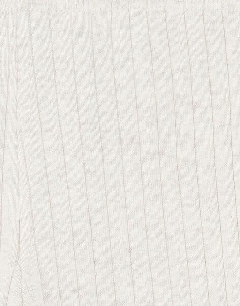 leggings fille côte plate beige chiné CASILDE 21 / 21VU1913N04A011