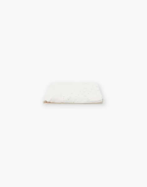 Cape de bain mixte en double gaze de coton vanille imprimé petits moutons DOUBAIN 21 / 21PV5912N73114