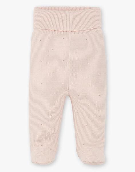 Pantalon fille tricot coton laine couleur nude   DIDI 21 / 21PV2212N3AD319