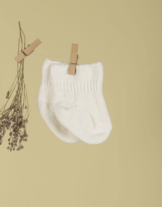 Chaussettes de naissance blanches mixte TABOULETTE 19 / 19PV7024N47000