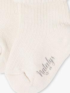 Chaussettes mixtes côtelées couleur noix DISON 21 / 21PV7012N47I812