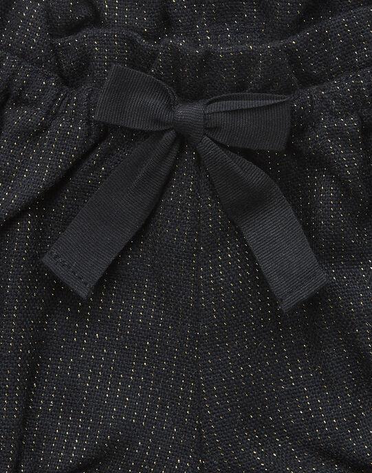 Short lainage avec lurex noir fille   VANESSA 19 / 19IU1931N02090