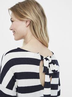 T-shirt de grossesse Mamalicious à rayures noires et blanches MLMICHELLE TOP / 19IW2665N0F090