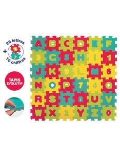 Tapis de 36 dalles lettres et chiffres Ludi 91x91 cm dès 10 mois MOUSSE DALLES / 15PJJO001GJO999