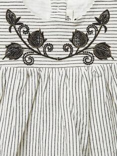 Robe chasuble vanille fille   VASSILIKI 19 / 19IV2213N18114