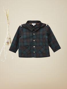 Chemise en lainage à carreaux garçon  VALMY 19 / 19IU2033N0A608