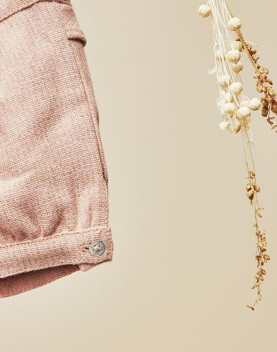 Short rose pâle en lainage bébé fille  VITALIE 19 / 19IU1911N02309