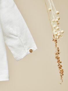 Tee-shirt manches longues vanille garçon  VARIATION 19 / 19IV2312N0F114